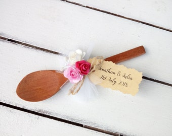 Wedding favor spoon, Custom wooden spoons, Personalized cooking party favors, Wedding favors for guests, Chef shower favors, Rustic, Tag