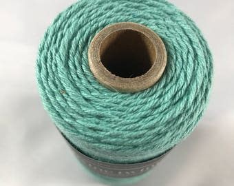 Divine Twine - 100% Cotton -  One Color - Your Choice of Color and Quantity - New Solids - Bakers Twine - Teal Shown