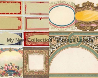 Labels - Over 45 Vintage Images for any project !