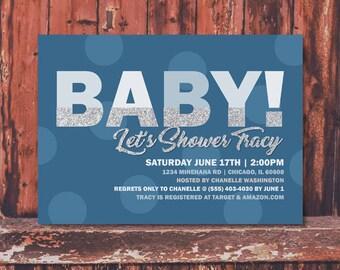 Baby Boy Shower Invitation Printable