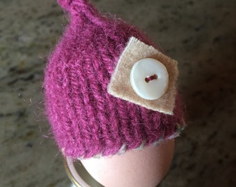 Knitted and Felted Egg Cozy