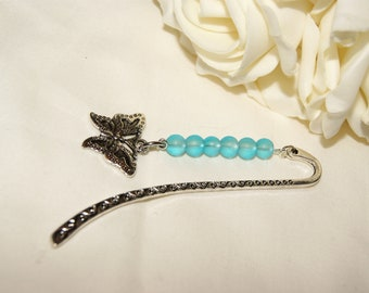 Butterfly Charm Bookmark - Blue