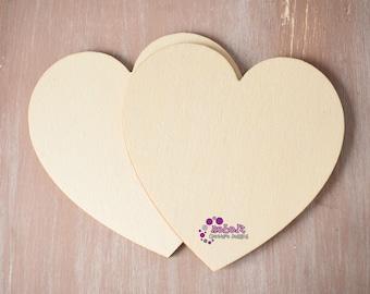 Laser cut 100mm Shapes heart circle square