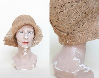 RESERVED --- 1920s Straw Cloche --- Vintage Art Deco Hat