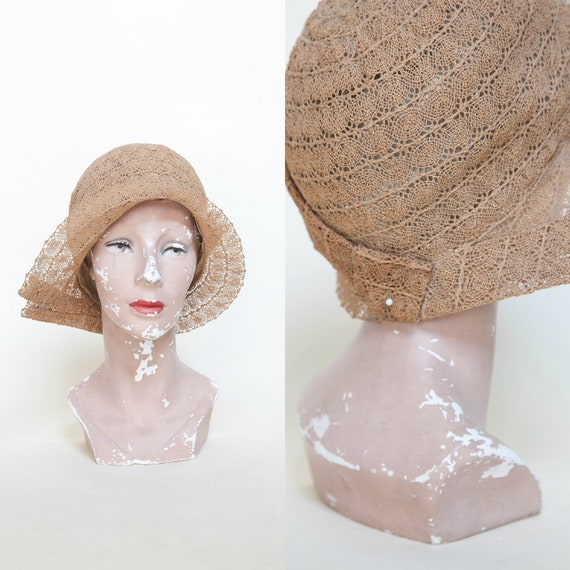 Reserved     1920s Straw Cloche     Vintage Art Deco Hat by Etsy