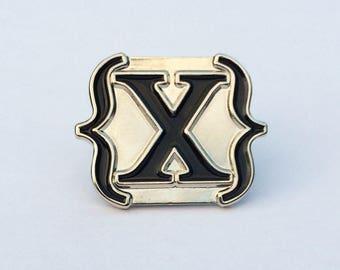 Black IAMX {X} Enamel Pin