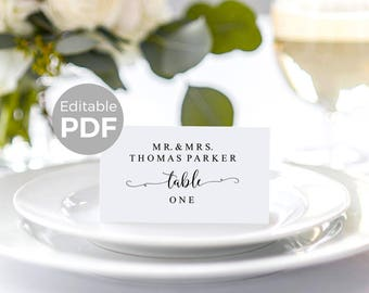 Place Card Template Etsy - Folded place cards template