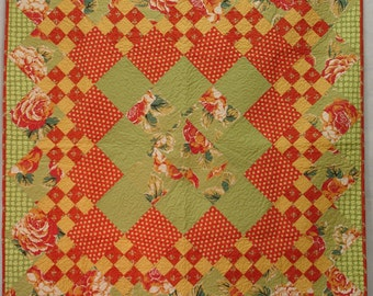 Quilt Red and green hot colors