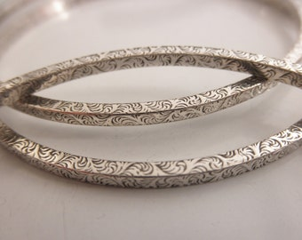 Stacking bangle bracelets  - 925 solid sterling silver - handmade sterling silver bangles - BB 16001