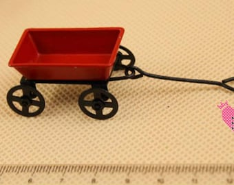 Dolls House Miniature  Red Toy Trolley
