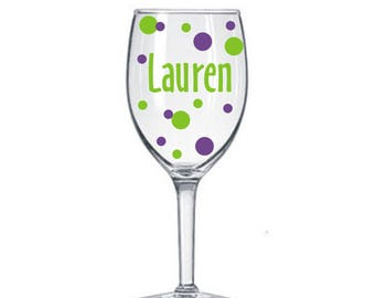 5 Name Decal for DIY Wine Glass kit