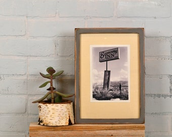 A4 Size Picture Frame in Peewee Style with Super Vintage Grey Finish - IN STOCK Same Day Shipping - Handmade Frame 210 x 297 mm  8.3 x 11.7""