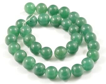 "Charm  12mm Green Jade Round Beads Gemstsone Full One Strand 15.5"""