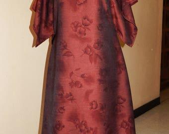 dress plus size Burgundy floral