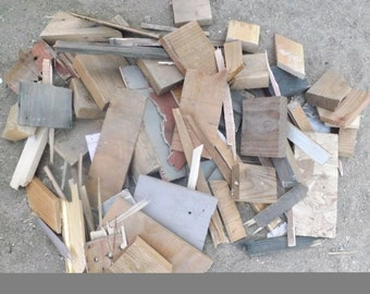 Scrap Wood- Bonfire- Fireplace- Winter Prep- Large Flat Rate Box Full - Shipped Priority Mail