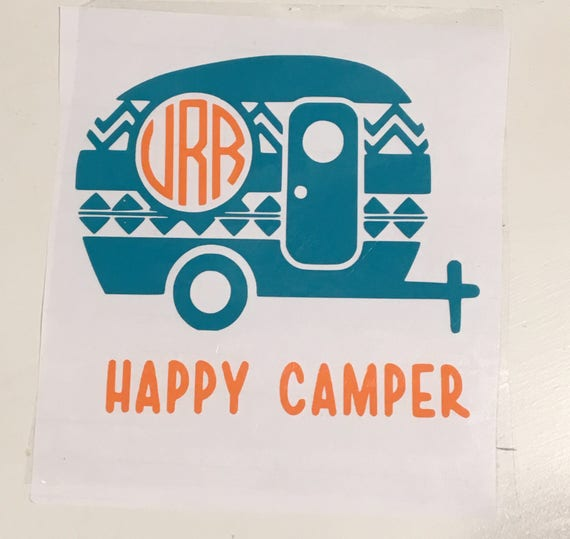 Happy Camper Logo Tumbler Cup Decal