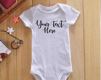Custom Baby Onsie, Girly Font, Personalized Onsie, Create Your Own Onsie, Unique Showers Gift, Baby Shower Gift, New Mom Gift, #2