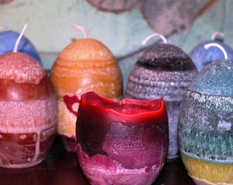 Palm Wax Egg Candles