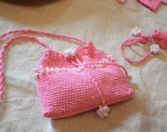 Pink Handbag for Crochet girl