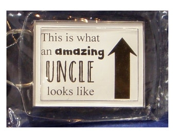 Amazing Uncle Foiled Keyring