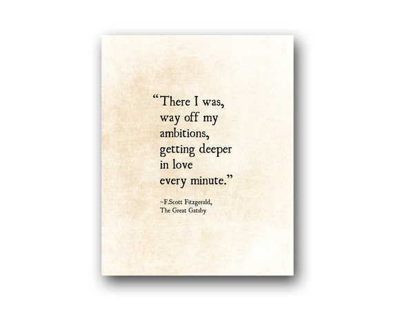 F. Scott Fitzgerald Love Quote Print Literary Art Print