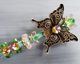 Butterfly Wand / Fairy Wand / Fairy Princess Wand / Wizard Wand / Magic Wand / Cosplay / Custom Wand / Costume