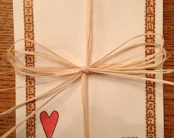 Heart & Star Note Pad Set