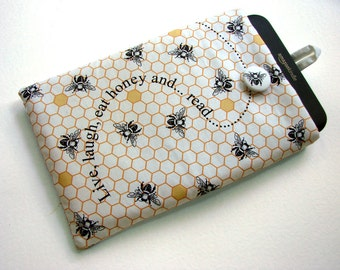 Honeycomb Kindle HDX 7 cover, Bees tablet case, 7 in tablet sleeve, Paperwhite cover, padded travel case, Nexus 7 cover, ereader sleeve