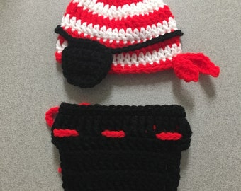 Crochet newborn pirate photo prop