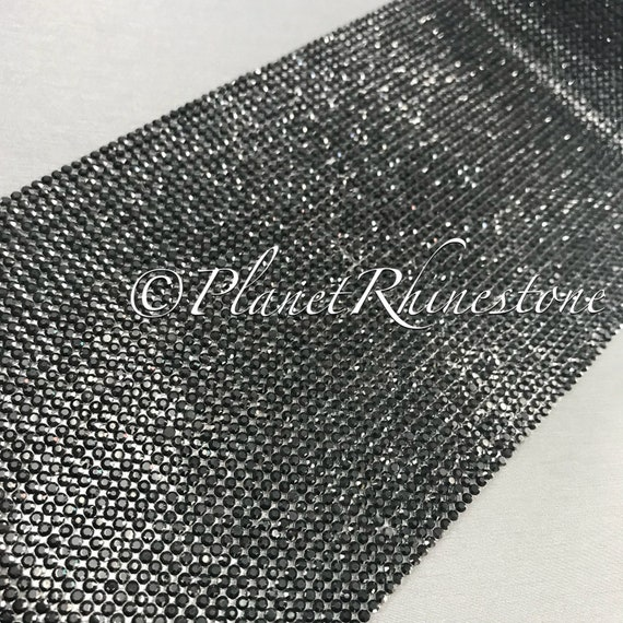 Jet Black Iron-On Crystal Sheet #S004
