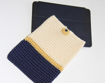 iPad Air cover, iPad cozy, tablet cover, crochet iPad cover