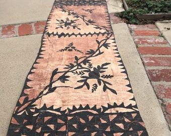 Large piece Tapa, kapa, siapo, ngato, bark cloth. Paper mulberry for polynesian, Tahitian costumes, crafts, polynesian