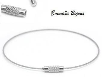 4 bangles 65mm silver plated wire *.