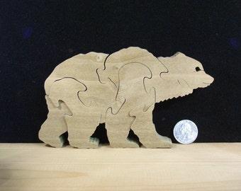 Wooden Bear Puzzle Hardwood