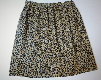 Wild animal leopard cheetah print skirt for girl baby toddler tween- fun birthdays or a trip to the zoo - NB - 16
