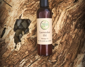Lavender Massage Oil - Calming Massage Oil - Relaxation Oil - Lavender infused oil - Herbal infused - Organic - Skin soothing - Body product