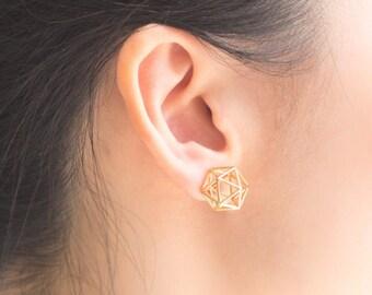 Icosahedron Studs
