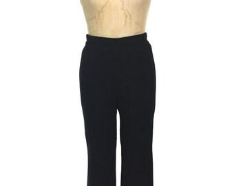 vintage 1980's ST. JOHN knit pants / black / SJK / Santana knit / wool rayon blend / women's vintage pants / tag size 6