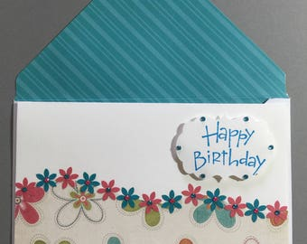 Female Birthday - Pink and Turquoise