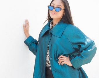 Vintage Electric Blue Jacket
