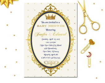 Royal Prince Invitation, Royal Baby Shower Invitation, Little Prince Invitation, Baby Shower, Prince Party, Shabby Chic Party, Invite
