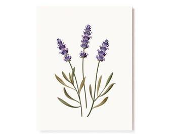 Botanical Scented Card - Lavender