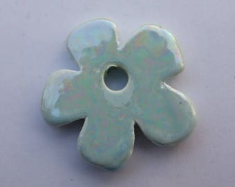 FLOWER CERAMIC BLUE 37MM