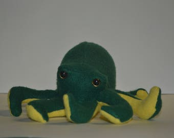 Green and Yellow twotone Octopus