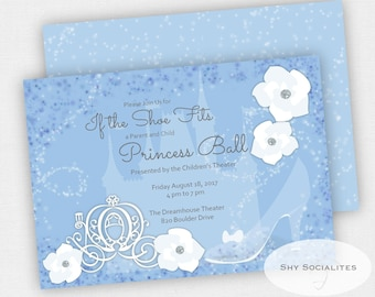 Princess Party Invitation | Cinderella | Princess Ball | Instant Download TEMPLATE | Editable Text PDF
