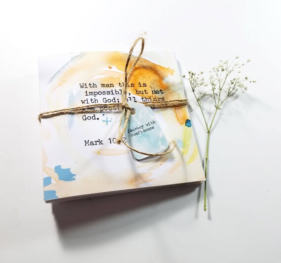 A set of 5 Bible Verse note cards 5x7