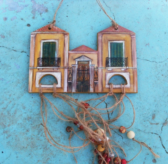 Neoclassical Inspired House  - Home Decor - Wall Hanging