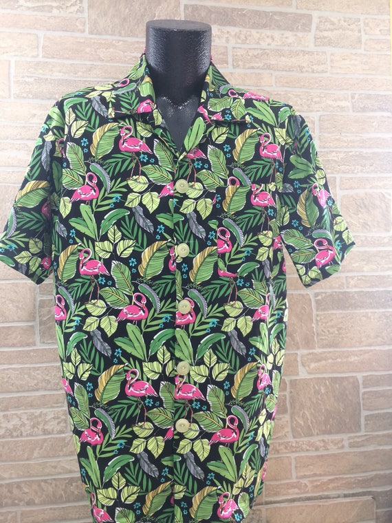 Flamingo Hawaiian shirt, Flamingo novelty shirt, unisex