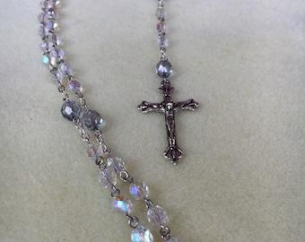 Fire Polished Crystal Catholic Rosary