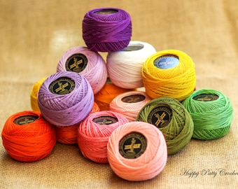 Cotton Thread Size #40 - VENUS Crochet Cotton Thread - 100% Mercerized Cotton Thread